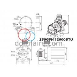 Water Pump Marine Air Conditioning 12000BTU HFL Dimensions