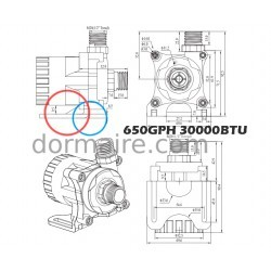 Water Pump Marine Air Conditioning 30000BTU Dimensions