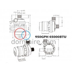 Water Pump Marine Air Conditioning 45000BTU HFL Dimensions