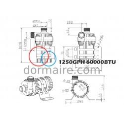 Water Pump Marine Air Conditioning 60000BTU Dimensions