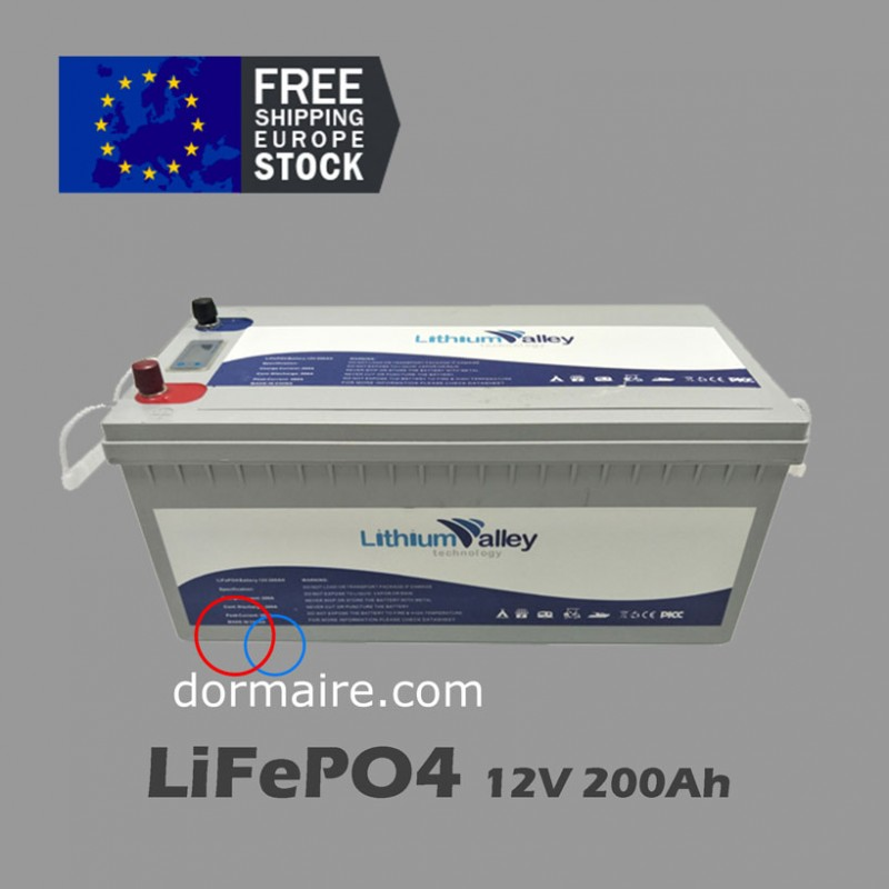battery lifepo4 12V 200Ah