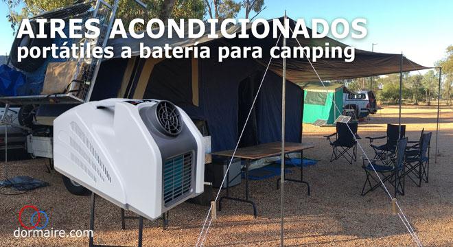 aires acondicionados a batería para camping